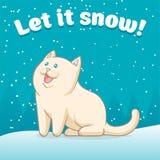 αφήστε το χιόνι διανυσματική απεικόνιση