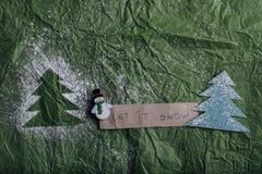 αφήστε το χιόνι Στοκ εικόνα με δικαίωμα ελεύθερης χρήσης