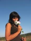 αφή λουλουδιών Στοκ Εικόνα