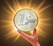 αφή νομισμάτων Στοκ εικόνα με δικαίωμα ελεύθερης χρήσης
