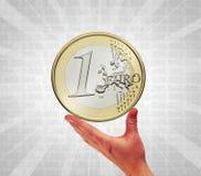 αφή νομισμάτων Στοκ εικόνες με δικαίωμα ελεύθερης χρήσης