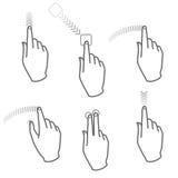 αφή οθόνης χεριών 4 χειρονο& απεικόνιση αποθεμάτων