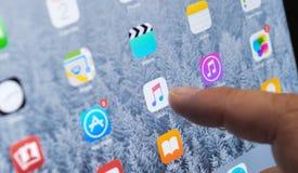Αφή στη μουσική της Apple Στοκ Εικόνες
