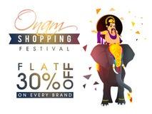 Αφίσα, έμβλημα ή ιπτάμενο πώλησης για το φεστιβάλ Onam Στοκ φωτογραφίες με δικαίωμα ελεύθερης χρήσης