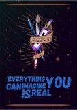 Αφίσα έννοιας τέχνης Βούρτσα χρωμάτων και διανυσματική απεικόνιση εργαλείων Δημιουργικό έμβλημα στούντιο Στοκ Φωτογραφίες
