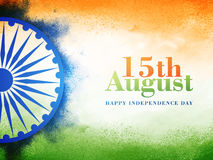 Αφίσα ή έμβλημα για την ινδική ημέρα της ανεξαρτησίας Στοκ Φωτογραφία