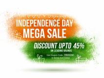 Αφίσα ή έμβλημα πώλησης για την ινδική ημέρα της ανεξαρτησίας Στοκ φωτογραφία με δικαίωμα ελεύθερης χρήσης