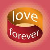 Αφίσα αγάπης για πάντα Στοκ Εικόνα