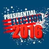 2016 αφίσα ΑΜΕΡΙΚΑΝΙΚΩΝ προεδρικών εκλογών επίσης corel σύρετε το διάνυσμα απεικόνισης Στοκ Φωτογραφία