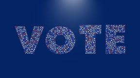 Αφίσα ΑΜΕΡΙΚΑΝΙΚΩΝ προεδρικών εκλογών Στοκ Εικόνες