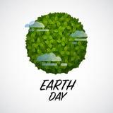 Αφίσα γήινης ημέρας Απεικόνιση αποθεμάτων