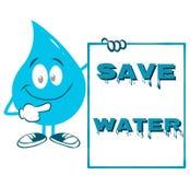 Αφίσα για την ημέρα παγκόσμιου νερού διανυσματική απεικόνιση