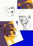 Αφίσα για τις σειρές μαθημάτων σχεδίων Στοκ Εικόνα