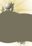 αφίσα γκολφ διανυσματική απεικόνιση