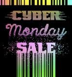 Αφίσα διαφήμισης πώλησης Δευτέρας Cyber Στοκ Εικόνες