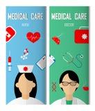 Αφίσα εμβλημάτων ιατρών Στοκ Εικόνες
