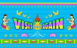 Αφίσα επίσκεψης πάλι Στοκ εικόνες με δικαίωμα ελεύθερης χρήσης