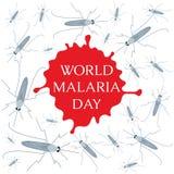 Αφίσα ημέρας παγκόσμιας ελονοσίας Στοκ Εικόνες