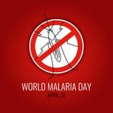 Αφίσα ημέρας παγκόσμιας ελονοσίας Στοκ εικόνες με δικαίωμα ελεύθερης χρήσης