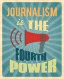 Αφίσα δημοσιογραφίας ελεύθερη απεικόνιση δικαιώματος