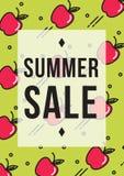 Αφίσα θερινής πώλησης ή έμβλημα Ιστού Στοκ φωτογραφία με δικαίωμα ελεύθερης χρήσης