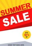 Αφίσα θερινής πώλησης Στοκ Εικόνες