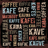 Αφίσα, διακοσμητικές επιτροπές επονομαζόμενες τον καφέ μέσα Στοκ Φωτογραφία