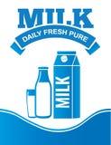 Αφίσα διαφήμισης παράδοσης γάλακτος Στοκ φωτογραφία με δικαίωμα ελεύθερης χρήσης
