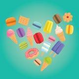 Αφίσα Ι γλυκό αγάπης επίσης corel σύρετε το διάνυσμα απεικόνισης Στοκ Εικόνες