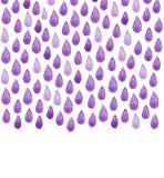 Αφίσα καθαρού νερού φιλανθρωπίας Βροχερή χρωματισμένη χέρι απεικόνιση Watercolor Άνευ ραφής υπόβαθρο σταγόνων βροχής Στοκ φωτογραφίες με δικαίωμα ελεύθερης χρήσης
