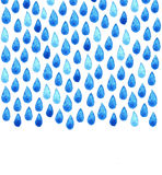 Αφίσα καθαρού νερού φιλανθρωπίας Βροχερή χρωματισμένη χέρι απεικόνιση Watercolor Άνευ ραφής υπόβαθρο σταγόνων βροχής Στοκ εικόνα με δικαίωμα ελεύθερης χρήσης