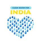 Αφίσα καθαρού νερού φιλανθρωπίας Κοινωνική απεικόνιση για τα προβλήματα Ινδία Δόσιμο των δωρεών για τα ινδικούς παιδιά και τους λ Στοκ εικόνα με δικαίωμα ελεύθερης χρήσης