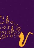 Αφίσα και ιπτάμενο μουσικής της Jazz Στοκ εικόνες με δικαίωμα ελεύθερης χρήσης