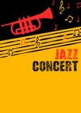 Αφίσα και ιπτάμενο μουσικής της Jazz Στοκ Φωτογραφία