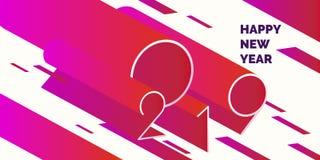 Αφίσα 2019 καλής χρονιάς abstract background modern ελεύθερη απεικόνιση δικαιώματος
