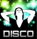 Αφίσα κομμάτων Disco Στοκ φωτογραφία με δικαίωμα ελεύθερης χρήσης