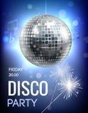 Αφίσα κομμάτων Disco Στοκ Εικόνα