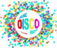 Αφίσα κομμάτων Disco Στοκ εικόνα με δικαίωμα ελεύθερης χρήσης