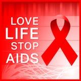Αφίσα κορδελλών του AIDS απεικόνιση αποθεμάτων
