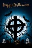 Αφίσα κόμματος αποκριών Zombie πρόσθετες διακοπές μορφής καρτών Στοκ εικόνες με δικαίωμα ελεύθερης χρήσης