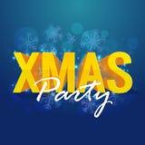 Αφίσα κόμματος Χριστουγέννων, έμβλημα ή σχέδιο ιπτάμενων Στοκ εικόνα με δικαίωμα ελεύθερης χρήσης