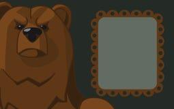 Αφίσα με μια εικόνα μιας αρκούδας Στοκ εικόνα με δικαίωμα ελεύθερης χρήσης