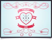Αφίσα με την καρδιά για την ημέρα βαλεντίνων Στοκ εικόνα με δικαίωμα ελεύθερης χρήσης