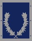 Αφίσα με την μπλε ανασκόπηση και το στεφάνι Στοκ φωτογραφία με δικαίωμα ελεύθερης χρήσης