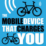Αφίσα με το ποδήλατο Στοκ Φωτογραφία