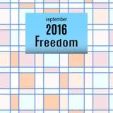 Αφίσα με το χρωματισμένο τετράγωνο Ελευθερία Στοκ φωτογραφία με δικαίωμα ελεύθερης χρήσης
