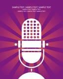 αφίσα μικροφώνων αναδρομι Στοκ Εικόνες
