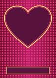 Αφίσα μορφής καρδιών του σχεδίου σχεδιαγράμματος ιπτάμενων Στοκ Φωτογραφίες