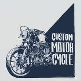 Αφίσα μοτοσικλετών συνήθειας διανυσματική απεικόνιση