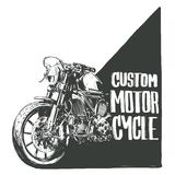 Αφίσα μοτοσικλετών συνήθειας ελεύθερη απεικόνιση δικαιώματος